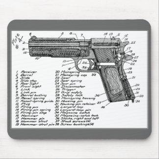Gun Diagram Mouse Mat