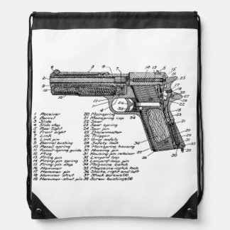 Gun Diagram V2 Drawstring Bag