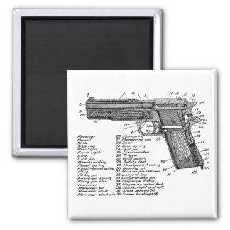 Gun Diagram V2 Fridge Magnets