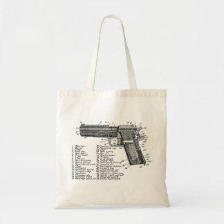 Gun Diagram V2 Budget Tote Bag