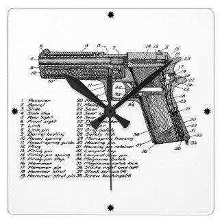 Gun Diagram V2 Wall Clock