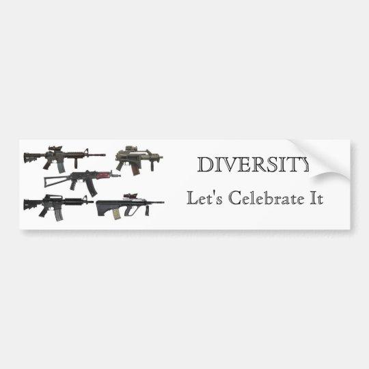 Gun Diversity Bumper Sticker