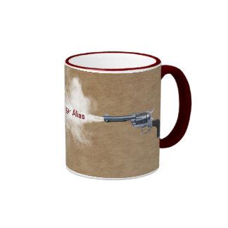 Gun Fight at the Coffee House Ringer Mug