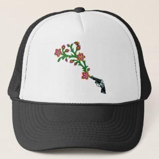 Gun & Flowers Blossom Trucker Hat
