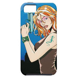 Gun Girl Orange iPhone 5 Cover