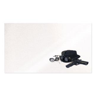 Gun goggles hat steam gadget pack of standard business cards