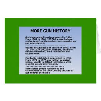 gun history greeting card