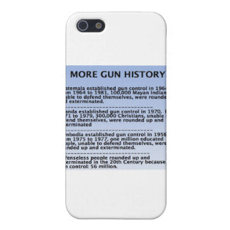gun history iPhone 5 covers