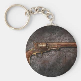 Gun - Model 1851 - 36 Caliber Revolver Basic Round Button Key Ring