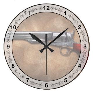 Gun - Model 1860 Army Revolver Round Wallclock