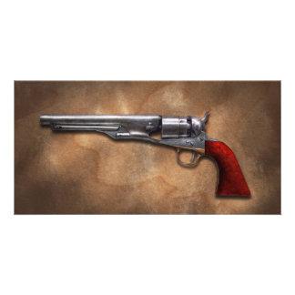 Gun - Model 1860 Army Revolver Custom Photo Card