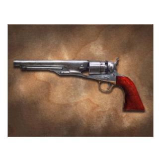 Gun - Model 1860 Army Revolver Flyer Design
