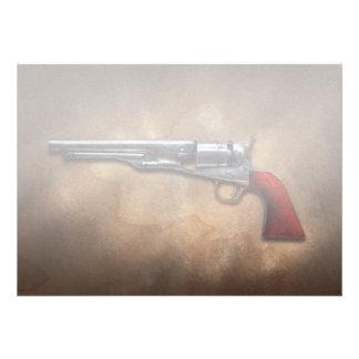 Gun - Model 1860 Army Revolver Personalized Announcement
