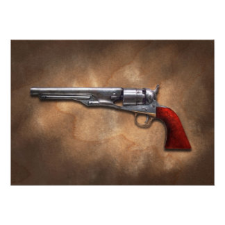 Gun - Model 1860 Army Revolver Custom Invitations