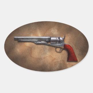 Gun - Model 1860 Army Revolver Oval Stickers
