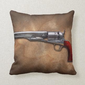 Gun - Model 1860 Army Revolver Throw Pillows