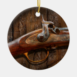 Gun - Musket - London Armory Round Ceramic Decoration