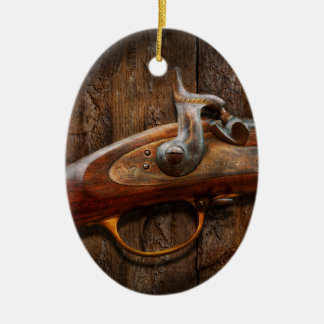 Gun - Musket - London Armory Ceramic Oval Decoration