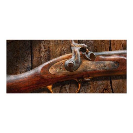 Gun - Musket - London Armory Rack Card Design