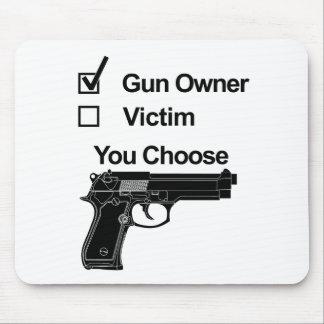 gun owner victim you choose mouse mat