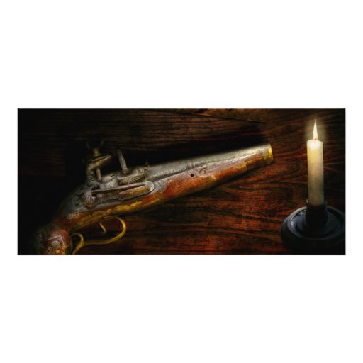 Gun - Pistol - Romance of pirateering Rack Card
