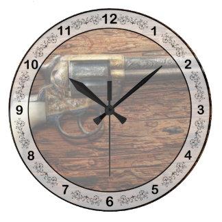 Gun- Police - True Grit Large Clock