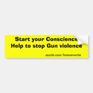 gun protest bumper sticker
