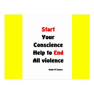 Gun protest postcard