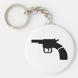Gun revolver keychain