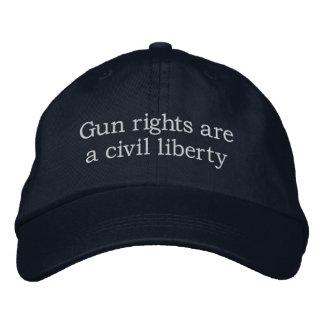 Gun rights are a civil liberty embroidered baseball caps