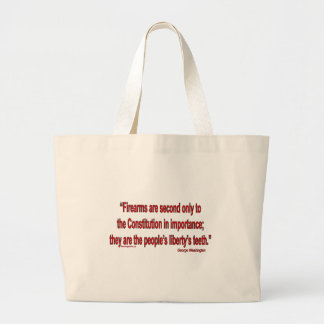 Gun Rights - Geo. Washington Large Tote Bag