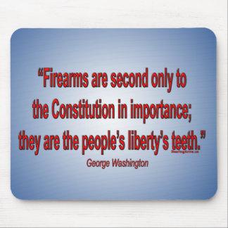 Gun Rights - George Washington Mouse Mat