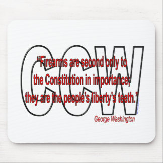 Gun rights - George Washington Mouse Pads