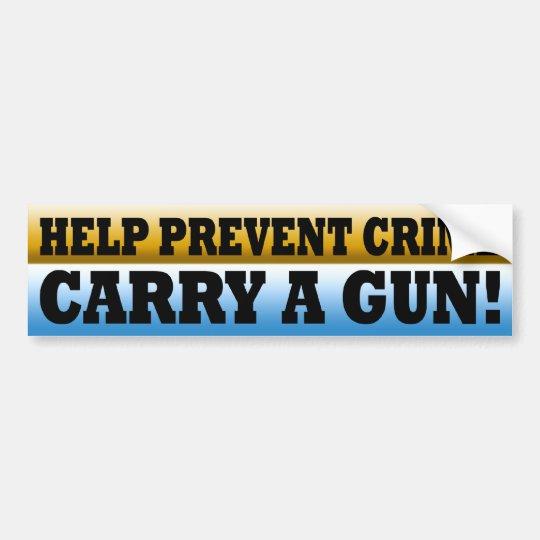Gun Rights Prevent Crime Bumper Sticker