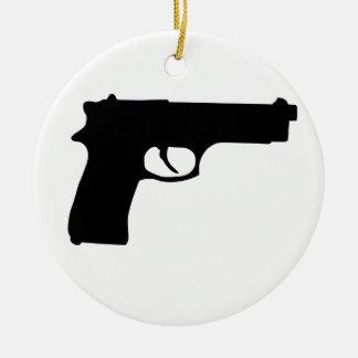 Gun Round Ceramic Decoration
