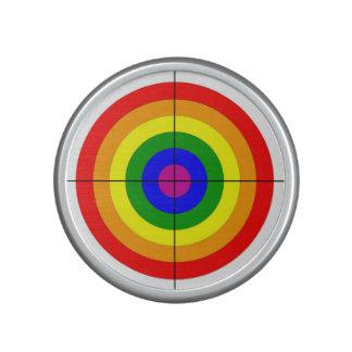 gun shooting range bulls eye target symbol gay speaker