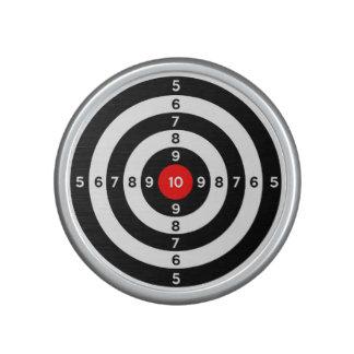 gun shooting range bulls eye target symbol speaker