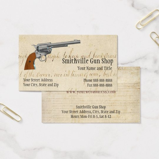 Gun Shop Business Card