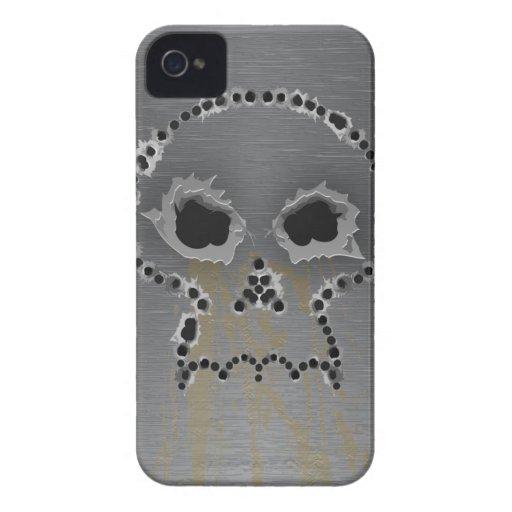 Gun Shots Holes Gothic Skull iPhone Case iPhone 4 Covers