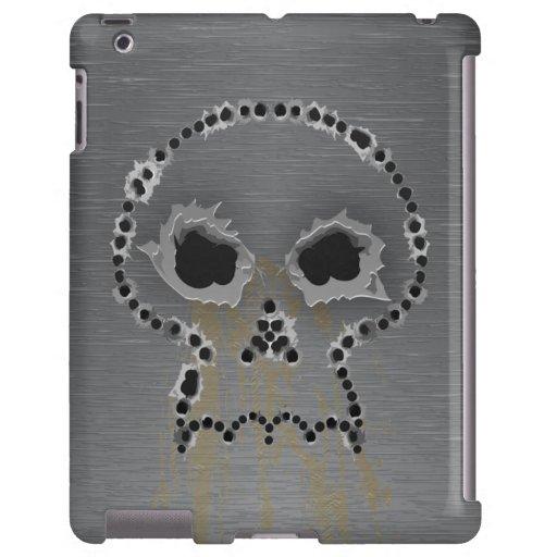 Gun Shots Holes Headbones Skull iPad Case