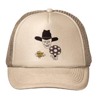 gun skull and badge sheriff - Dodge City, Kansas Mesh Hats