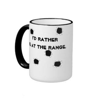 Gun Target Shooting Range Ringer Mug