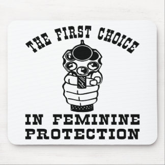 Gun, The 1st Choice In Feminine Protection Mouse Pad