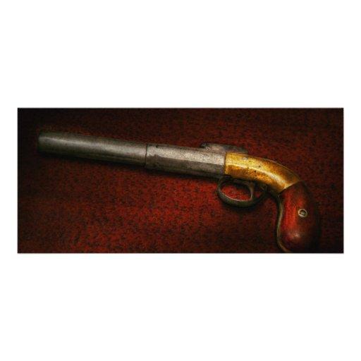 Gun - The shooting iron Rack Card Design