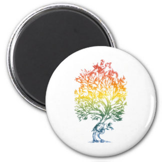 Gun-Tree-Image 6 Cm Round Magnet