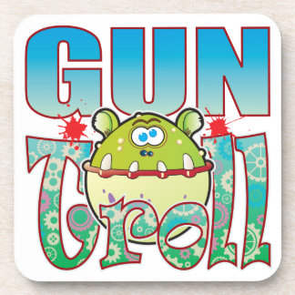 Gun Troll Drink Coaster