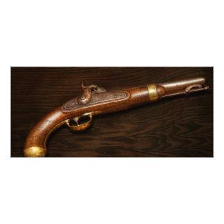 Gun - US Pistol Model 1842 10 Cm X 23 Cm Rack Card