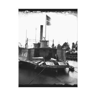 Gunboat, altered from ferryboat_War Image Canvas Print