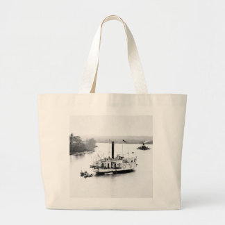 Gunboat Commodore Perry: 1860s Jumbo Tote Bag