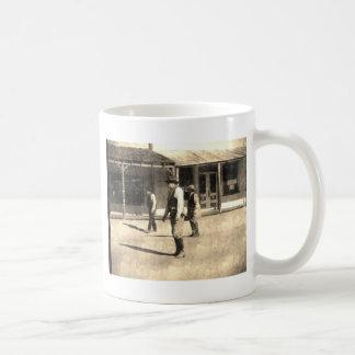 Gunfight Ready Vintage Old West Basic White Mug